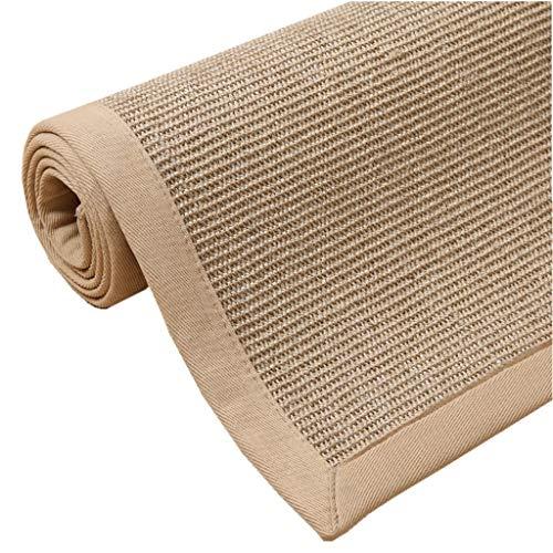 Tapis tissés à la main de sisal de paille / tapis de plancher de salon / protection antidérapante de table basse / tapis d