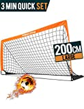 Happy Jump Soccer Goal Soccer Net for Kids Backyard 6'6'x 3'3', 1 Pack