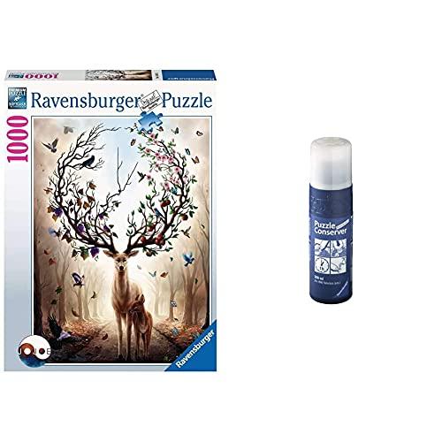 Ravensburger Puzzle 15018 - Magischer Hirsch - 1000 Teile Puzzle für Erwachsene und Kinder & Puzzle-Conserver - Transparenter Puzzlekleber um Puzzles zu fixieren und aufzuhängen, 200 ml