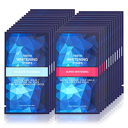 Teeth Whitening Strips for Sensitive Teeth , 50 Pcs , 25 Treatments White Strips Teeth Whitening , Non-Slip Whiter strips Gentle and Safe for Enamel, Teeth Whitener Removes All Manner of Stains