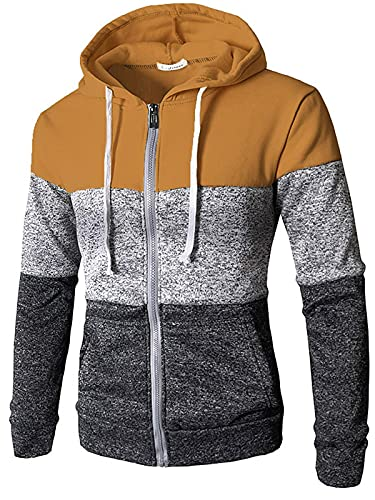Sudaderas con capucha para hombre con cremallera para mujer, bolsillos laterales, sudadera de manga larga con capucha y chaquetas con cordón