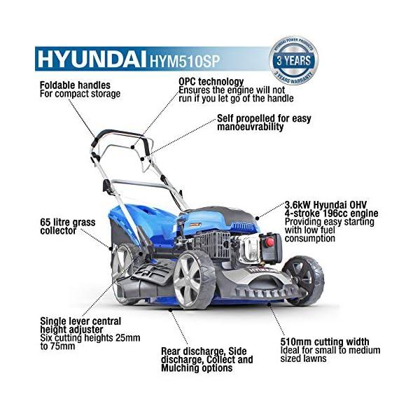 Hyundai HYM510SP Petrol Lawn Mower 173cc