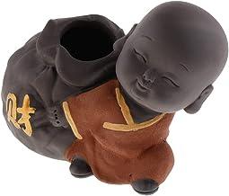 Blesiya Small Buddha Statue Tea Pet Purple Sand Pottery Car Monk Figurine Decoration Ornaments Crafts - Style 08