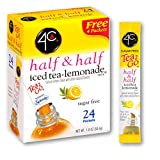 4C Powder Drink Mix | Singles Stix, On the Go | Refreshing Water Flavorings | Multipacks (Half & Half, 3 pack)