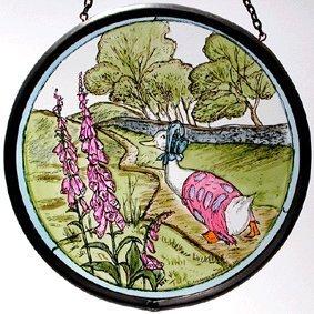 Decorative dipinte a mano vetrata SUN Catcher//roundelette in un