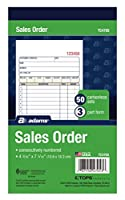 Carbonless Sales Order Book, Three-Part Carbonless, 4-3/16 x 7 3/16, 50 Sheets (並行輸入品)