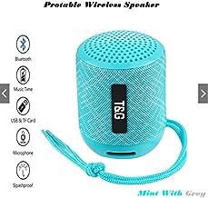 RiderTech 129 Bluetooth Speaker Portable Waterproof Outdoor Wireless Speakers Enhanced Bass Built in Mic, TF Card, Auto Off, FM Radio for Beach, Shower & Home (Flower Mint)