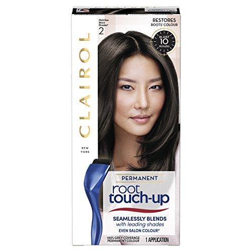 Clairol Root Touch Up Permanente Haarfarbe 2 schwarz langanhaltend intensivierende Farbe mit voller Deckkraft und einfacher Anwendung 50 ml