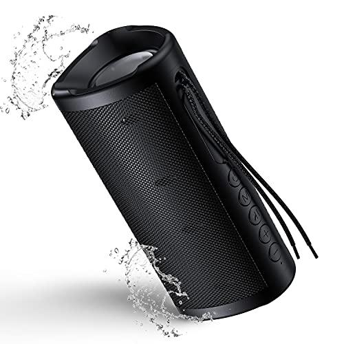 Smalody Bluetooth スピーカー IPX5防水防塵 10W ポータブルスピーカー 360°ステレオ 重低音 大音量 TWS二台接続可能/内蔵マイク搭載/microSDカード & FMラジオ対応 ポータブル アウトドア お風呂