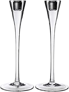 IKEA Gastvanlig Candlestick Clear Glass / 2 Pack 303.347.09 Size 11