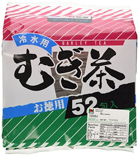 Tokuyo Hiyashi Mugicha (Mugi Cha) 52 Tea Bags (Japanese Roasted Barley Tea)