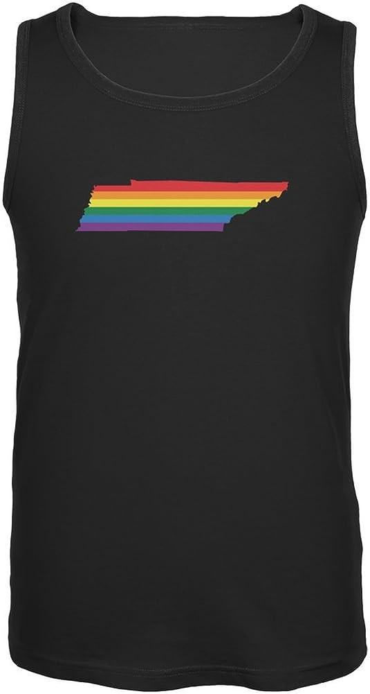 Tennessee LGBT Gay Pride Rainbow Black Adult Tank Top