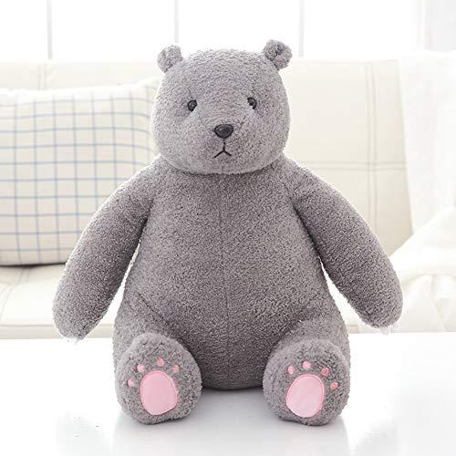Metermall Home Plush Stuffed Doll Bear Shape Toy Sierkussen voor kinderen Vriendin Slapen grijs