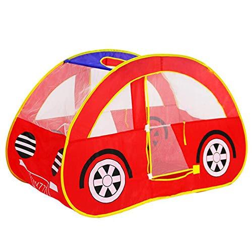 Georgie Porgy Bambini Tenda Pop up Playhouse Gioca Auto Assemblaggio Facile per Ragazze (LK Red Car)