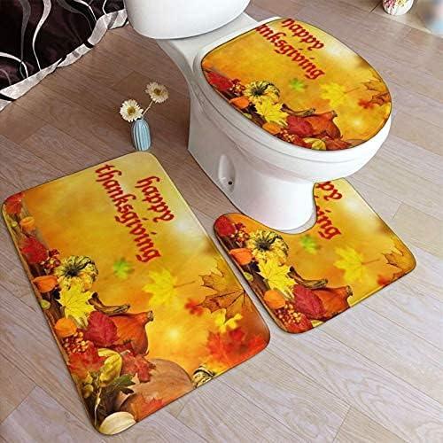 Happy Thanksgiving Print Max 47% OFF Bathroom Antiskid Elegant Pad Bath Non-Slip Ru