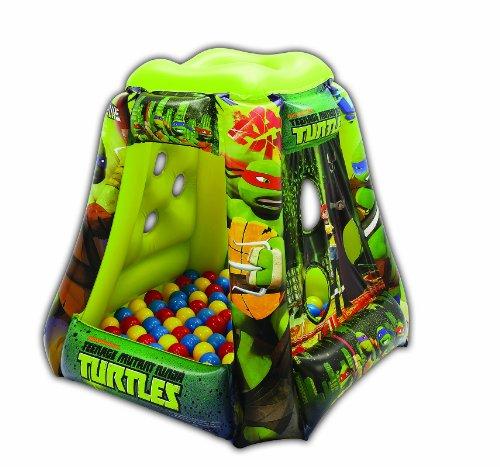 Teenage Mutant Ninja Turtles Heroes Tower Ball Pit, 1 Inflatable & 20 Sof-Flex Balls, Green, 37'W x 37'D x 34'H