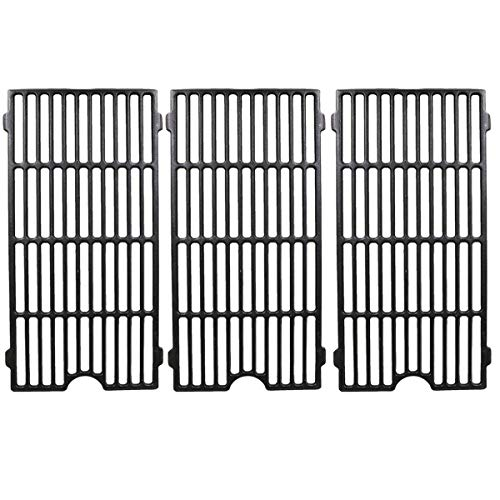 Hisencn Grill Repair parts Cast Iron Cooking Grid Grates Replacement For Perfect Flame 3019L, 3019LNG, Jenn Air 720-0709, 720-0720, 730-0709, Master Forge GCP-2601 Gas Grill Model, 18.75' Set of 3