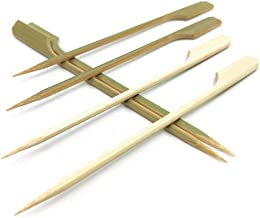 4.7 inch Bamboo wood wooden Paddle Picks Skewers for Cocktail,Appetizers,Fruit Kabobs,Sandwich,Barbeque Snacks.More Size Choices 3.5''/ 4.7''/ 7''/ 10'' (Pack of 100)