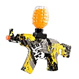 Anstoy Electric with Gel Ball Blaster AEG AKM-47 for Outdoor Activities-Fighting Shooting Team Game (Graffiti Yellow)