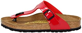 Birkenstock Womens Gizeh Birko Flor Silver Sandals