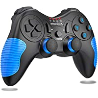 Beboncool Wireless Nintendo Switch Lite Controller with Dual Shock (Black+Blue)