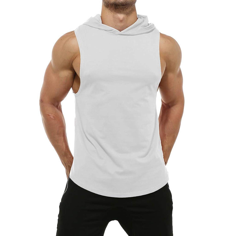 メンズ タンクトップ mechanC メンズ トレーニングタンクトップ tシャツ フード付き ノースリーブ 筋トレ スポーツインナー 袖なし スポーツウェア 速乾 マッスルフィット ボディビル ジム 無地 吸汗速乾