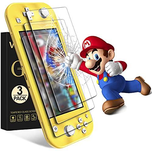 VGUARD [3 Pack] Pellicola Vetro Temperato per Nintendo Switch Lite, Pellicola Protettiva Protezione per Schermo per Nintendo Switch Lite