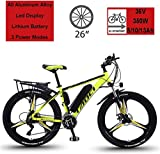 """MRXW Electric Bikes for Adult, Magnesium Alloy Ebikes Bicycles All Terrain, 26"""" 36V"""