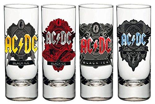 AC/DC sgac01Chupito, Cristal, Transparente, 4x 4x 10.5cm