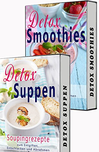 Detox BOX: Smoothies zum Abnehmen, Souping, Detox Suppen, Detox Smooties, 2 in 1 SET, Matcha, Superfood (Low Carb, Detox, Abnehmen, Souping, Smoothies, Suppen, Superfood, Matcha Tee, Kokosöl)