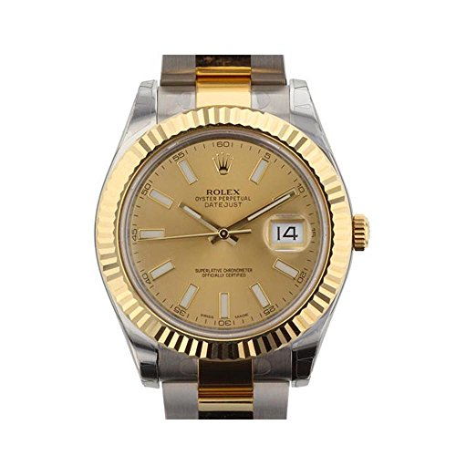 Rolex-Datejust-II-41mm-Champagne-Dial-Gold-Mens-Watch-116333