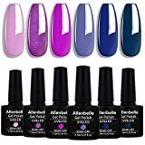 Allenbelle Smalto Semipermante Per Unghie Kit In Gel Uv Led Smalti Semipermanenti Per Unghie Nail Polish UV LED Gel Unghie(Kit di 6 pcs 7.3ML/pc) (005)