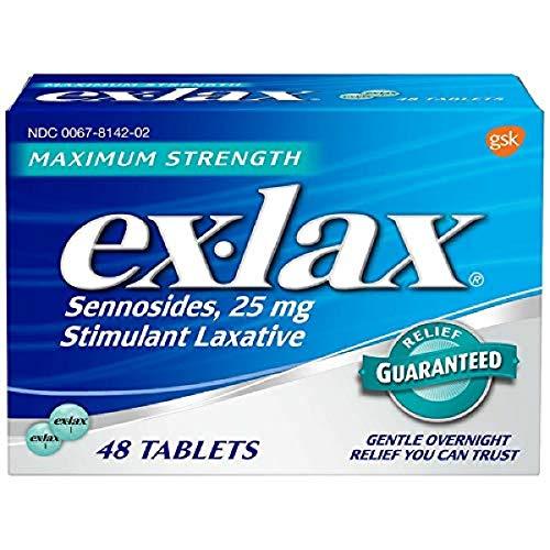Ex-Lax Maximum Strength Stimulant Laxative Pills, 48 count