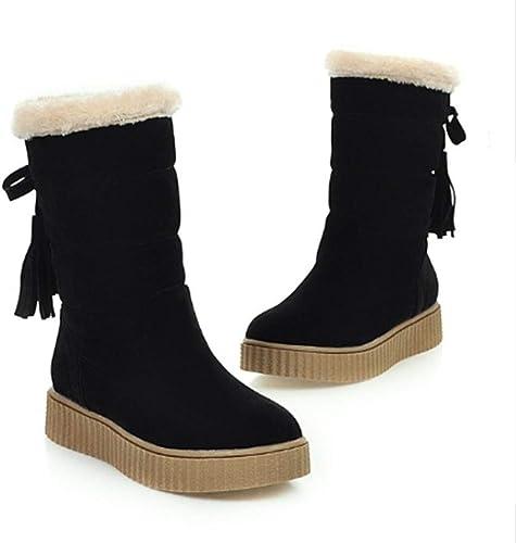 FMWLST Bottes Bottines Courtes Chaudes pour Femmes, Hiver, Chaussures Rondes, Chaussures pour Hommes, Chaussures pour étudiants