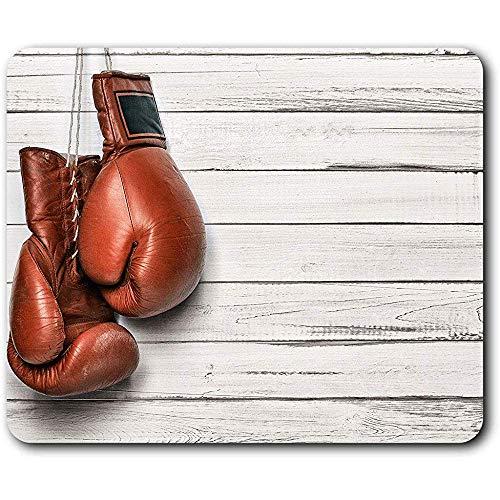 Schreibtischunterlage,Boxhandschuhe Retro Sport Weiches Bequemes Rechteck Gummi Mousepad Für Innenministerium Dekor 30X25cm