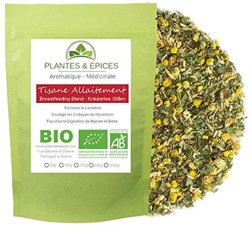 Plantes & Epices - Tisane Allaitement 100% BIO - Favorise la Lactation et la Digestion de Maman et Bébé, soulage bébé des coliques (50g)