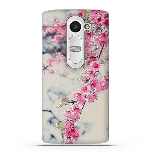 FUBAODA für LG Leon 4G LTE C40(H340N H320 C50 H324) Hülle, 3D Erleichterung Schöne Blume Muster TPU Hülle Schutzhülle Silikon Hülle für LG Leon 4G LTE C40(H340N H320 C50 H324)