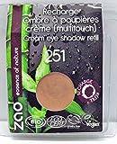 ZAO REFILL Cream Eyeshadow 251 kupfer-rosa cremiger Lidschatten-Nachfüller, 'Multi-Touch' als Rouge, Lippenstift, Korrektor, Concealer, Abdeckstift (bio, Ecocert, Cosmebio, Naturkosmetik)