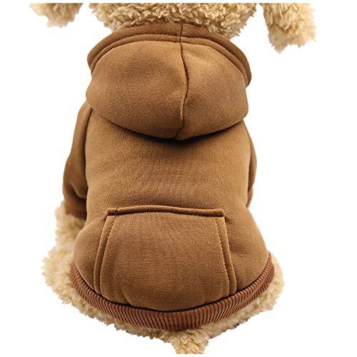 Reasoncool Haustier Kleidung Hund T Shirt Kleine Hunde Pullover Polyester Mit Kapuze Sweatshirts Mit Taschen Hundekleidungs Kleidung Overall Mantel Samt Kleidung Outwear Korallen