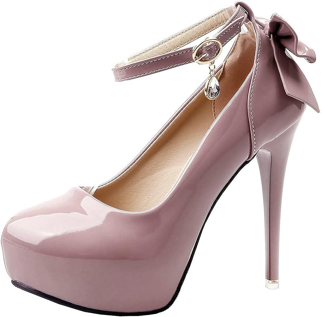 Meefit Women Stiletto Platform Pumps Ranking TOP7 Strap Ankle Patent Leather Cash special price