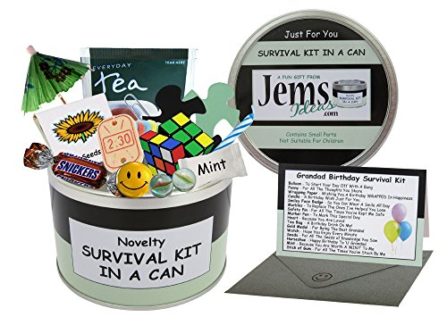 Survival Kit In A Can Grandad Birthday Novelty Fun Gift - Humorous Granddad Present & Card...
