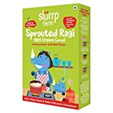 Slurrp Farm Organic Cereal   Sprouted Ragi   Instant Healthy Wholesome Food