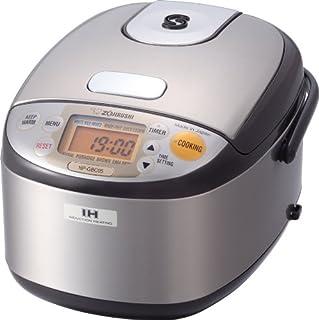 Zojirushi NS-ZCC10 5-1/2-Cup Neuro Fuzzy Rice Cooker and Warmer, Premium White, 1.0-Liter Tiger JNP-S10U-HU 5.5-Cup (Uncooked) Rice Cooker and Warmer, Stainless Steel Gray Zojirushi NS-TSC18 Micom Rice Cooker and Warmer, 10-Cups Zojirushi NP-NVC10 Induction Heating Pressure Cooker and Warmer, 5.5 Cup, Stainless Brown Zojirushi NP-GBC05XT Induction Heating System Rice Cooker and Warmer, 0.54 L, Stainless Dark Brown