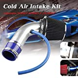 RYANSTAR Universal Percompatible withmance Cold Air Intake Pipe,Car Cold Air Intake Filter Aluminum Induction Flow Hose Pipe Kit (Silver)