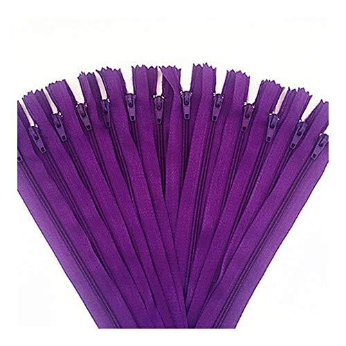 Buy Bargain 50pcs (6/7/8/10/12/14/16/20/22/24 Inch) Mix Nylon Zipper Tailor Sewer Craftsman and FGDQRS (Color : Dark Purple, Size : 25cm(10 inch))