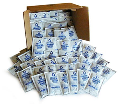 Datrex Emergency Survival Water Pouch (Pack of 64), 125ml