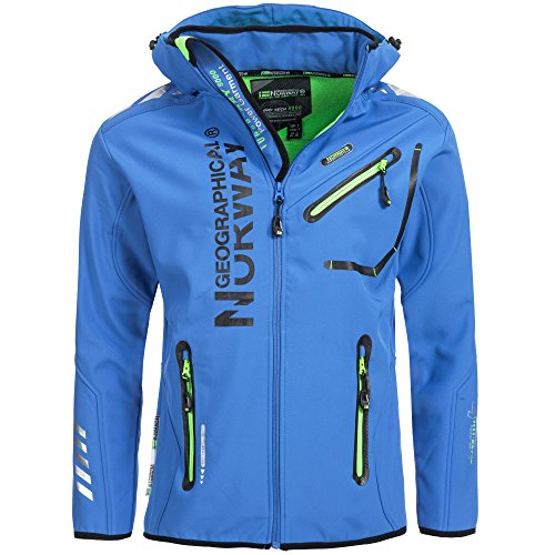 91A4 Amazon Geographical Norway Rainman Herren Softshell Jacke Blau M