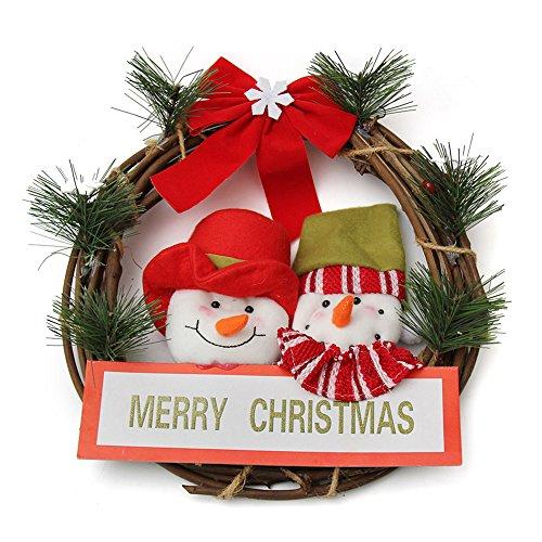 GYH Guirlande de Noël - Décoration de Noël Bonhomme de Neige Guirlande de Noël 30cm /& (Couleur : A)