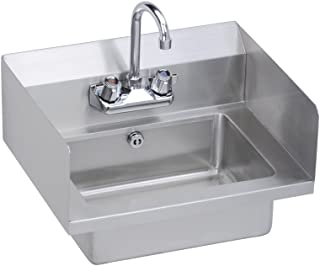 Economy Hand Sink, Featuring Side Splash Guards, Lever Waste, Overflow Valve and P-Trap, 18 (L) X 14.5 (W) X 11 (H) Over All