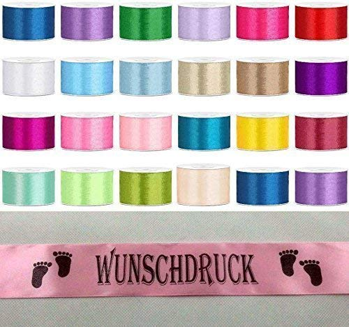 Schärpe Hochzeit Satinband Wunschdruck Schriftfarbe Party Jungesellenabschied Geburtstag